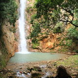Waterfall Cunca Lolos royalty free stock photography