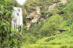 Waterfall Cunca Rami royalty free stock photography