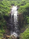 Waterfall. Curug paganten at cimahi indonesia stock photo