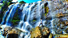 Waterfall is curug. Take at cianjur indonesia west java Royalty Free Stock Photos