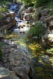 Waterfall in Dallas Arboretum. Beautiful Dallas Arboretum , TX USA Royalty Free Stock Photo