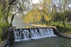 Waterfall of datang furong garden Stock Images