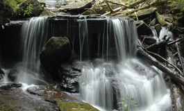 Waterfall at Dean's Ravine. Canaan, CT royalty free stock images