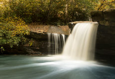Waterfall on Deckers Creek near Masontown WV Stock Images