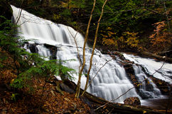 Waterfall Deep in the Autumn Forest Royalty Free Stock Photo