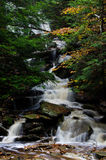 Waterfall Deep in the Autumn Forest Stock Image