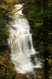 Waterfall Deep in the Autumn Forest Stock Photo