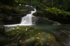 Waterfall. Deep forest waterfall at Chet khot waterfall ,Thailand stock image