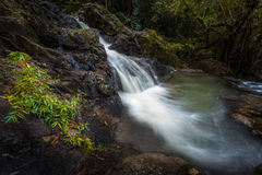 Waterfall. Deep forest waterfall at Chet khot waterfall ,Thailand stock photography