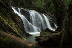 Waterfall. Deep forest waterfall at Chet khot waterfall ,Thailand royalty free stock photo