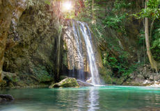 Waterfall in deep forest Royalty Free Stock Photos