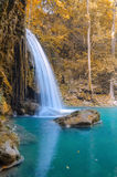 Waterfall in Deep forest at Erawan waterfall National Park, Royalty Free Stock Photo
