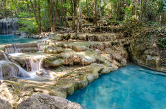 Waterfall in Deep forest at Erawan waterfall National Park, Stock Photos