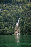 Waterfall in deep forest of Germany Stock Photo
