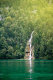 Waterfall in deep forest of Germany Royalty Free Stock Photos
