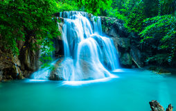 Waterfall in deep forest at Huay Mae Khamin Royalty Free Stock Photo