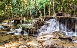 Waterfall in Deep forest, Kanchanaburi, Thailand Royalty Free Stock Photo