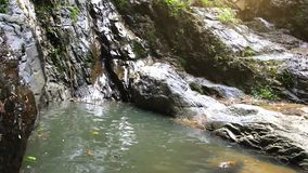 Waterfall in deep forest on Koh Samui. Thailand. 1920x1080 stock footage