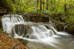 Waterfall in deep forest in Plitvice national park Stock Photography