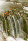 Waterfall in deep forest in Plitvice national park Stock Image