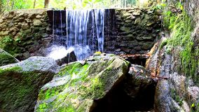 Waterfall in deep forest on Samui, Thailand. Video Royalty Free Stock Images