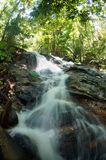 Waterfall in deep forest. In Selangor, Malaysia Stock Images
