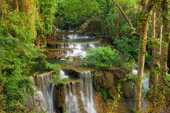 Waterfall in deep forest of Thailand Stock Images