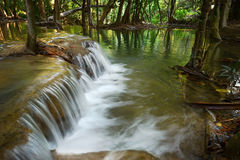 Waterfall in deep forest Thailand. Stock Image
