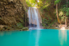 Waterfall in deep forest of Thailand national park Stock Photo