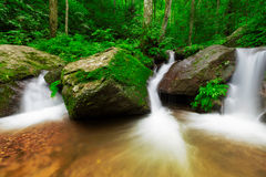 Waterfall in deep forest of Thailand Royalty Free Stock Images