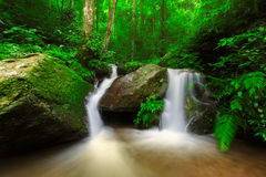 Waterfall in deep forest of Thailand Royalty Free Stock Photo