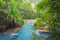 Waterfall in deep forest. Tropical Waterfall in deep forest Stock Photos