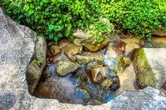 Waterfall in deep green jungle. Koh Samui Royalty Free Stock Photos