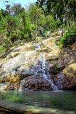 Waterfall in deep green jungle. Koh Samui Royalty Free Stock Photo