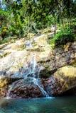 Waterfall in deep green jungle. Koh Samui Royalty Free Stock Images