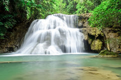Waterfall in deep jungle Stock Image