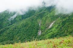 Waterfall in deep mountain Stock Photos