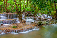 Waterfall in deep rain forest jungle Royalty Free Stock Photography