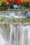 Waterfall in deep rain forest jungle (Huay Mae Kamin Waterfall) Royalty Free Stock Photography