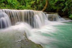 Waterfall in deep rain forest jungle (Huay Mae Kamin Waterfall) Stock Photography
