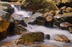 Waterfall in deep rain forest jungle. Krok E Dok Waterfall Sarab Royalty Free Stock Photos