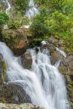 Waterfall in deep rain forest jungle (Krok E Dok Waterfall Sarab Stock Image