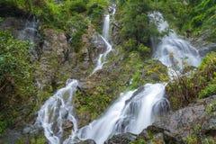 Waterfall in deep rain forest jungle (Krok E Dok Waterfall Sarab Royalty Free Stock Photography