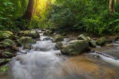 Waterfall in deep rain forest jungle (Krok E Dok Waterfall Sarab Royalty Free Stock Image