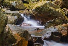 Waterfall in deep rain forest jungle. Krok E Dok Waterfall Royalty Free Stock Photos