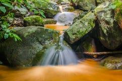 Waterfall in deep rain forest jungle. Krok E Dok Waterfall Royalty Free Stock Image