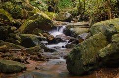 Waterfall in deep rain forest jungle. Krok E Dok Waterfall Royalty Free Stock Photography