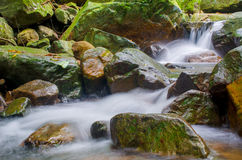 Waterfall in deep rain forest jungle. Krok E Dok Waterfall Stock Images