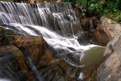Waterfall in deep rain forest jungle. (Mae pool Waterfall in Utt Royalty Free Stock Image