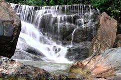 Waterfall in deep rain forest jungle. (Mae pool Waterfall in Utt Stock Photo